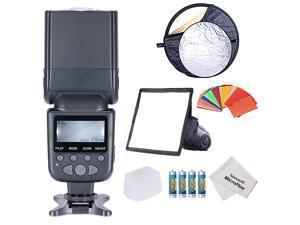Neewer NW690/MK950II ETTL LCD Screen Display Camera Slave Flash Speedlite Kit for Canon EOS 700D/T5i 650D/T4i 600D/T3i 1100D/T3  300D/Digital Rebel 20D 30D and All Other Canon DSLR Cameras