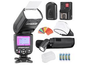 Neewer® NW-985N i-TTL 4-Color TFT Screen Display *High-Speed Sync* Camera Slave Flash Speedlite Kit for Nikon D3S D50 D60 D70 D70S D80 D80S D200 D300 D300S nd All Other Nikon DSLR Cameras