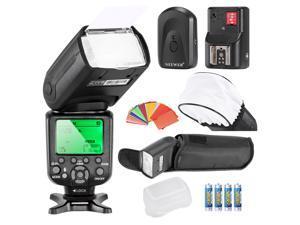 Neewer® Triopo *High Speed Sync* i-TTL Camera Master/Slave Flash Kit for Nikon D4S D4 D3S D800 D700 D80 D90 D7000 D7100 D50 D40X D60 D5000 D5100 D5200 D5300 D40 D3000 and Other Nikon DSLR Cameras