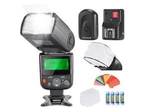 Neewer® PRO NW670 E-TTL Photo Flash Kit for CANON Rebel T5i T4i T3i T3 T2i T1i XSi XTi SL1, EOS 700D 650D 600D 1100D 550D 500D 450D 400D 100D 300D 60D 70D DSLR Cameras, Canon EOS M Compact Cameras