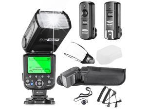 Neewer® NW660III E-TTL HSS Flash Speedlite Kit for Canon DSLR Cameras,includes:(1)NW660III Flash+(1)2.4GHz Wireless Trigger(1 Transmitter,1 Receiver)+(1)Hard&Soft Flash Diffuser+(1)Lens Cap Holder