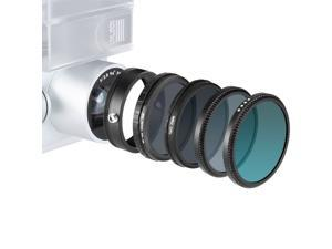 Neewer for DJI Phantom 3 Standard Multi-coated 4 Pieces Filters and 1 Adapter Ring Kit includes: UV Filter+CPL Filter+ND16 Filter+ND Fader Adjustable Filter ND2-ND400+Adapter Ring