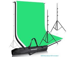 Neewer Photo Studio Backdrop Support System Background Stand 2.6M x 3M Kit with Adjustable Cross Bar 121cm to 308cm to 10ft and Backdrop Stand Carrying Case for Muslins Backdrops and hromakey Screens