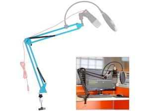 "Neewer® NW-35 Adjustable 31.5""/80cm Studio Recording Microphone Suspension Boom Scissor Arm Stand with Microphone Clip & Table Mounting Clamp (Blue)"