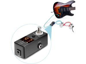 Neewer® ST-1 Compact Chromatic Guitar Tuner Pedal True Bypass with Visible Luminous LED Display, Built with Solid Metal Housing, Features Super Quick and Accurate Tuning--Black