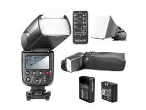 Neewer *LI-ION BATTERY* TT860 *MASTER* E-TTL Camera Flash Speedlite Kit for Canon 5D Mark 2 3 6D 7D 70D 60D 50D Digital Rebel T3 SL1 T5i T4i T3i Xti XT / EOS 1100D and other Canon Ditial SLR Cameras