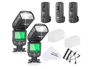 Neewer® NW-562N i-TTL Flash Speedlite Kit for Nikon DSLR Camera,Kit Include:(2)NW562N Flash+(1)FC-16 2.4Ghz Wireless Trigger(1 * Transmitter+2 * Receiver)+(1)Microfiber Cleaning Cloth
