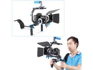 Neewer Professional DSLR Rig Set Movie Kit Film Making System for All DSLR Cameras and Video Camcorders - Shoulder Mount + Follow Focus + Matte Box + C-shaped Bracket + Top Handle