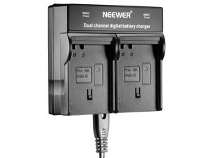 Neewer® Dual-channel LED Display Charger for Nikon ENEL15 Batteries Compatible with Nikon 1 V1 Digital Camera, Nikon D600, D610, D800, D800E, D810, D7000, D7100 Digital SLR Camera