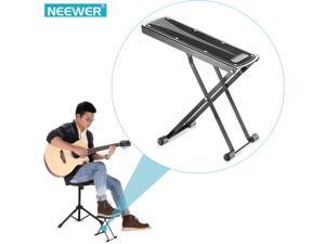 Neewer® Extra Sturdy Guitar Foot Rest Made of Solid Iron, Provides Six Easily Adjusted Height Positions, Excellent Stability with Rubber End Caps and Non-slip Rubber Pad