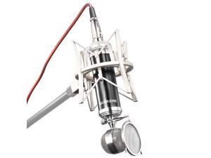 Neewer® NW-7500 Cardioid Broadcasting & Recording Condenser Microphone Set includes: (1)Condenser Microphone with Detachable Pop Filter+(1)Shock Mount +(1)XLR Connector Cable