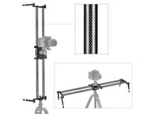 """Neewer® 31.5""""/80cm Carbon Fibre Camera Track Dolly Slider Rail System with 17.5lbs/8kg Load Capacity for Stabilizing Movie Film Video Making Photography DSLR Camera Such As Nikon Canon Sony"""