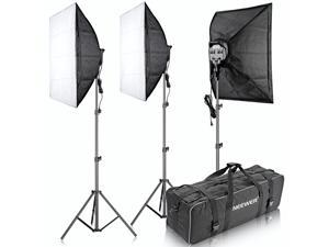 "Neewer® 3000W 5500K 20""x28""/50x70cm Five Socket Softbox Compact Fluorescent Photo Video Studio Lighting Kit with Carrying Case for Portraiture,Art and Product Photography"