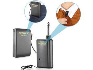 Neewer® NW-3301 Hands Free Lavalier Lapel Clip-on Microphone System: Transmitter + Receiver + Microphone + Batteries, Perfect for Presentation/Speech/Podcasting/Performance and More