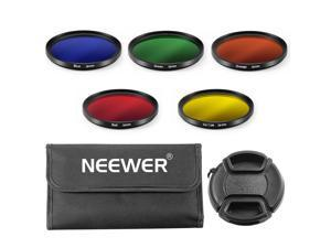Neewer 58mm Color Filter Kit for CANON EOS REBEL 700D 650D 600D 550D 500D(T5i T4i T3i T2i T1i) Cameras:58mm Color Filters(Blue/Yellow/Orange/Red/Green)+58mm Lens Cap+Filter Carrying Pouch