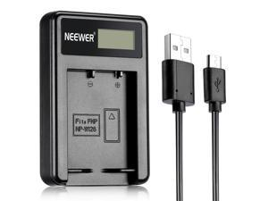 Neewer NW-W126 USB Battery Charger for Fujifilm NP-W126 and Fuji FinePix HS30EXR, HS33EXR, HS50EXR, X-A1, X-E1, X-E2, X-M1, X-Pro1, X-Pro2, X-T1