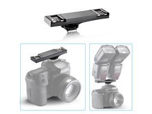 Neewer® E-TTL Flash Hot Shoe Bracket for Canon Rebel T5i T4i T3i, EOS 700D 650D 600D,1Ds Mark II,5D Mark III,5D Mark II,1D Mark IV Camera and Canon 430EX II 600EX-RT 90EX 580EX II 270EX II Flash