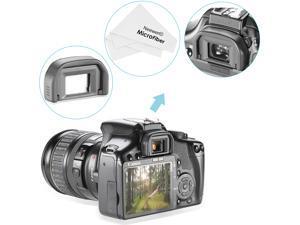 Neewer® Eyecup Canon EF Replacement for CANON Rebel (T6i, T6S, T5i T4i T3i T3 T2i T1i XTi XSi XS) EOS 1100D 600D 550D 500D 450D 400D 350D 300D + Microfiber Lens Cleaning Cloth