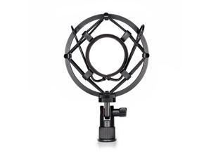 Neewer® Black Universal Microphone Shock Mount Holder Clip Anti Vibration Suspension High Isolation with for Studio Condenser Mic, Idea for Radio Broadcasting Studio, Voice-over Sound Studio