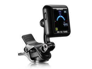 Neewer NW-102 Rechargeable Clip-on Tuner with 360 Degree Rotational Large Color Screen Light LCD Display for Guitar, Bass, Violin, Ukulele and Chromatic Tuning Modes