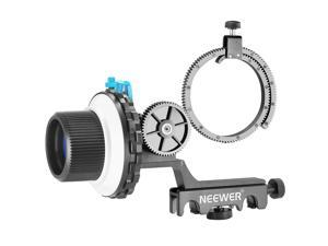 Neewer® A-B Stop Follow Focus with Quick Release and Gear Ring Belt Mount for DSLR Cameras Camcorder,Fits Shoulder Supports,Stabilizers,Movie Rigs,All 15mm Rod Mounts