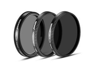 Neewer® 3-Piece Filter Set for DJI OSMO / Inspire 1: (1) Polarizer Filter + (1) ND8 Neutral Density Filter + (1) ND16 Neutral Density Filter
