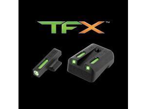 Truglo Brite-Site TFX Pro, Sight, Fits Glock 42 and 43, Tritium/Fiber-Optic, Day/Night Sight, 24/7 Brightness, Orange Ri