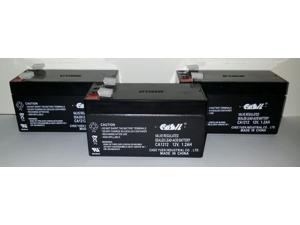 (3) Casil CA1212 12v-1.2ah BATTERY REPLACEMENT for ES1.2-12