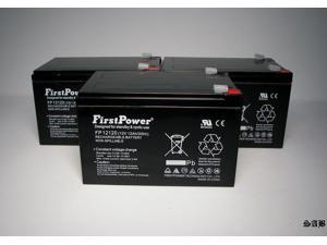 (3) FirstPower 12v 12ah F2 for Genesis NP12-12T, NP 12-12T