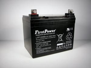 FirstPower 12v 33ah for Light Trolling Motor Battery Sevylor Minn Kota Golf Cart