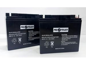(2) Pro Power 12v 18ah for Drive Mobility Ventura 3-wheel