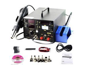 iMAX®  853D 3in1 853D SMD Rework Station Soldering Iron Lead-free Hot Air Gun Rework Station Rework Welder Welding Tool