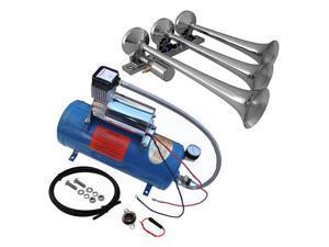 """Viking Horns"" V3305/1007 Loud 149 Decibels Train Air Horn Kit, Includes 1.5 Gallon Tank, 150 PSI Heavy Duty Air Compressor and a 3 Trumpet Air Horn"