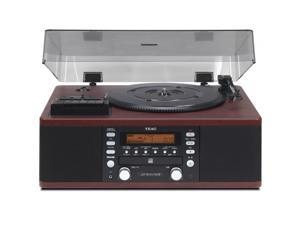 TEAC LP-R550USB CD Recorder/Cassette, Record Player & USB Audio Out (Wood Grain)