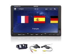 EinCar Wireless Camera+Double 2 din GPS Navigation Car Stereo Radio 7'' HD In dash Car DVD CD Video Player 1080P Bluetooth iPod