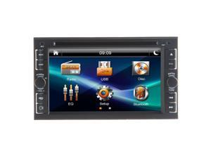 2014 Newest Model 6.2-Inch Double-2 DIN In Dash Touch screen LCD Monitor with DVD/CD/MP3/MP4/USB/SD/AM/FM/RDS/Bluetooth/TV Head Deck Tape Recorder Subwoofer HD:800*480 LCD