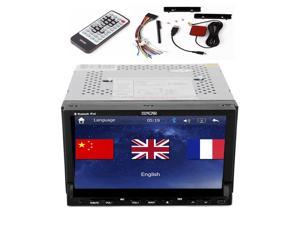 GPS Navigation 7'' HD In dash Car PC Stereo Double 2 din DVD CD MP3 Player 2din Car Radio Touch Screen iPod USB SD 3D Free Map
