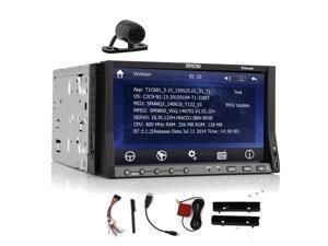 Free Camera+2015 Double 2DIN In dash 7'' HD Car PC Stereo Radio GPS Navigation Car DVD CD MP3 Player Bluetooth+Win 8 UI+iPod USB