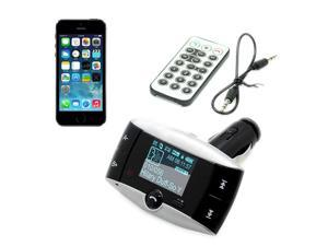 LCD Display Vehicle Fm Transmitter Car Kit Mp3 Player Only Bluetooth Call with Remote Controller