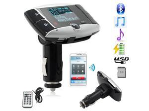 "FM Transmitter Bluetooth 1.5""-inch LCD Car MP3 Player - Support SD, MMC, USB w/ Remote Controller Bluetooth Enable Cell Phones FM Modulator Audio"