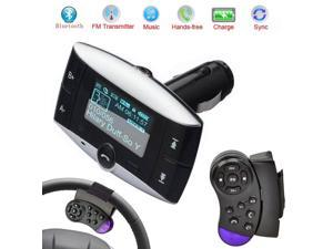 New Hands Free Bluetooth LCD Car Kit Stereo BT Car MP3 Player FM Transmitter FM modulator SD MMC USB+Steering Wheel Controller