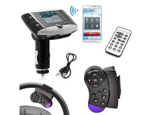 Car MP3 Player FM Transmitter with Steering Wheel Controller LCD Display for SD Card/ USB Stick / Mp3 Players FM Modulator Car Audio With Remote Control