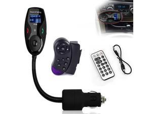 Univeral LCD Display +Remote control Bluetooth Wireless Car MP3 FM Transmitter Modulator Radio Adapter Handsfree Car Kit with Hands-Free Calling, Music Control, Mic, and Charging Port for iP