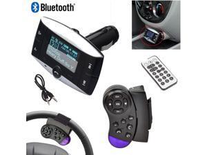 "1.5"" LCD Car Kit MP3 Bluetooth Player BT FM Transmitter FM Modulator SD MMC USB Remote+Steering Wheel Controller"