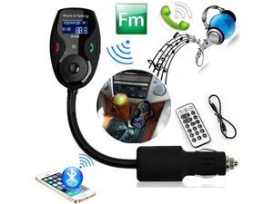 Univeral LCD Display Bluetooth Wireless Car MP3 FM Transmitter Modulator Radio Adapter Handsfree Car Kit with Hands-Free Calling, Music Control, Mic, and Charging Port for iPhone 6 iPhone 6