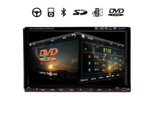 "High Def 7 Inch In Dash 2 Din Car Stereo DVD Player GPS Navigation 3D Bluetooth Double 2Din In Dash Deck Car DVD Radio Player 6.2"" GPS Touch BT iPod Stereo"