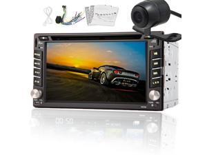 """Christmas Sale!!! Vehicle GPS 6.2"""" 2 DIN Car IN Dash Car Stereo Multimedia Touch USB/SD Car DVD CD Video Player Radio Stereo BT iPod TV USB FM Touch Screen AM Radio PC Free Back Camera 2DIN SD"""