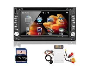 2014 Newest Model 6.2-Inch Double-2 DIN In Dash Touch screen LCD Monitor with DVD/CD/MP3/MP4/USB/SD/AMFM/RDS/Bluetooth and GPS Navigation SAT NAV Head Deck Tape Recorder Subwoofer HD:80