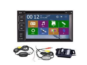Christmas Sale!!! Auto NEW 6.2'' Car DVD In-Dash Interchangeable Player Vehicle Real time GPS Stereo Navigation 2DIN Car Stereo Radio Car In-Dash GPS Bluetooth USB SD Universal Stereo tracker