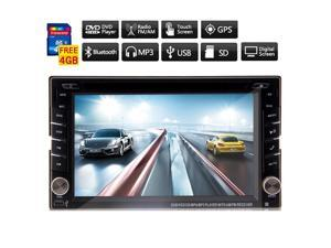 Christmas Sale!!! RDS 2 Din 6.2 Inch Audio Car DVD Player In Dash Stereo Stereo Support RDS Car Radio Bluetooth Audio Multi-Media USB SD Touchscreen CD Video BT Player Car Stereo Auto Radio Ve